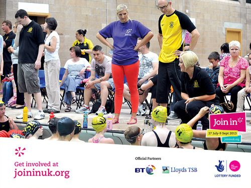Olympic swimmer Rebecca Adlington came along to Stalybridge swimming pool in Stockport for the Join In Summer 2013. She helped the coaches with drills and gave instructions and tips to all the children.The coaches were absolutely over the moon to say Rebecca had helped them teach a session!