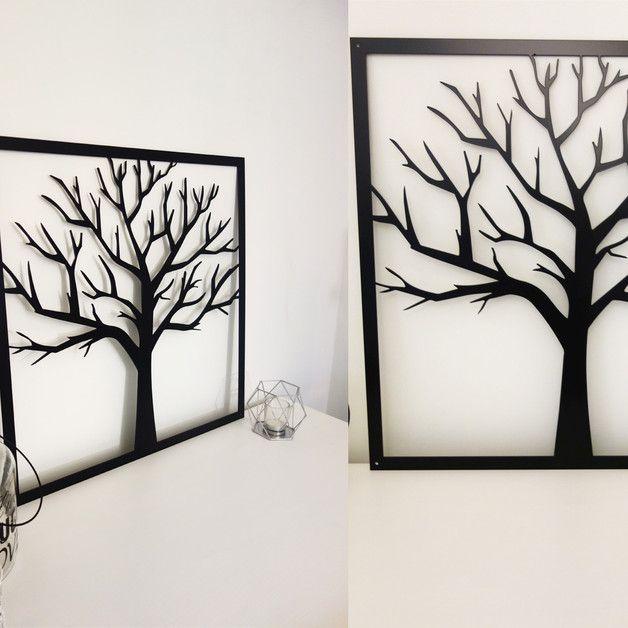 Obraz Geometryczny 3d Metalowy Stalowy Drzewo Dobmax Ozdoby Na