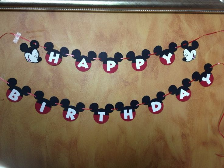 Mickey Mouse Happy Birthday Banner Cricut Personalized Mickey Mouse Clubhouse