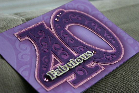 1000 Ideas About 40th Birthday Cards On Pinterest