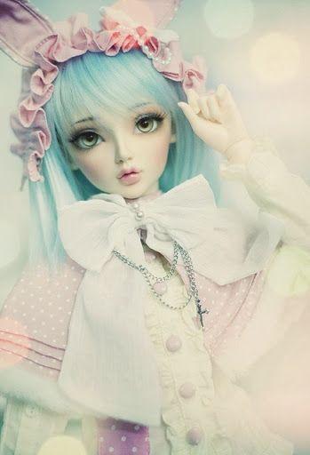 Blue hair dolly