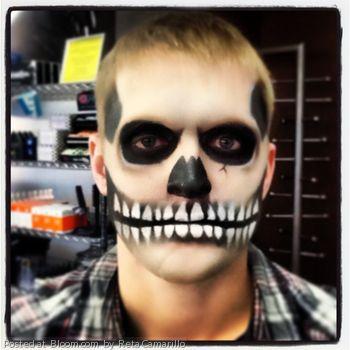 Skeleton makeup by Reta Camarillo.