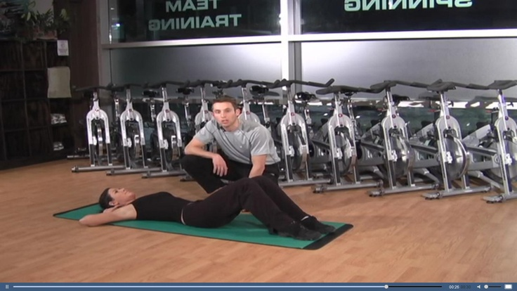 Demonstration of a crunch strength training workouts