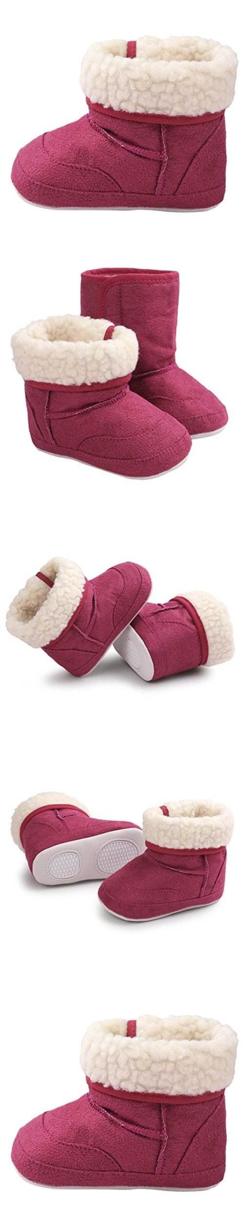 GBSELL New Casual Baby Toddler Winter Warm Sole Snow Boots Soft Crib Shoes (Purple, 12~18 Month)
