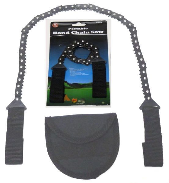 Hand Chain Saw Portable Survival Doomsday Prepper Camping Hiking Outdoors