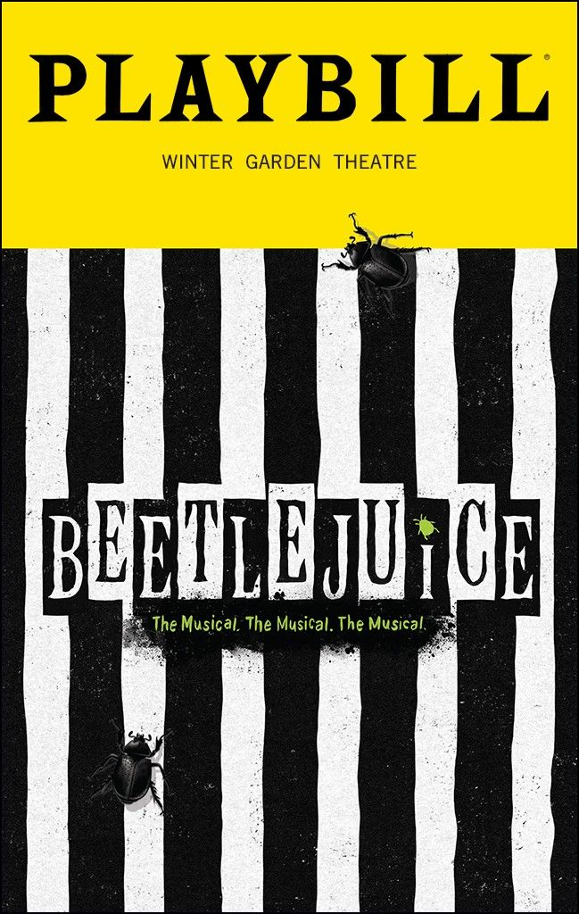 Playbill Discounts For Beetlejuice Playbill Broadway Playbills Musical Theatre Broadway Playbill