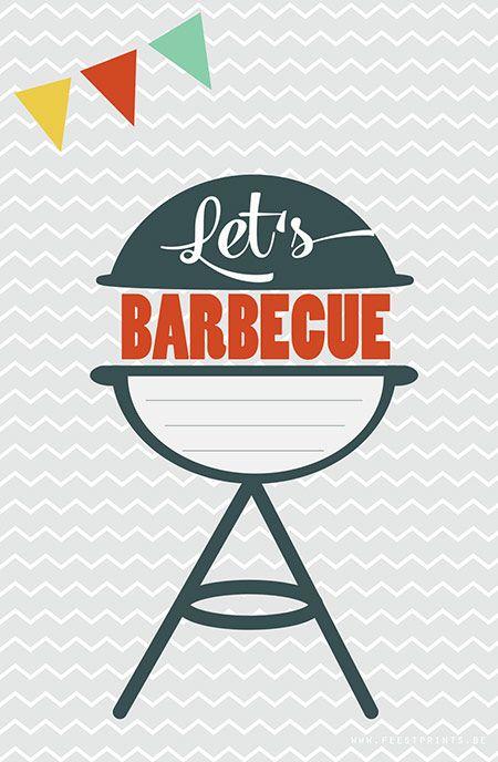 Geef je binnenkort een barbecue voor vrienden of familie? Nodig ze op officiële manier uit met deze gratis printbare uitnodiging van Feestprints!