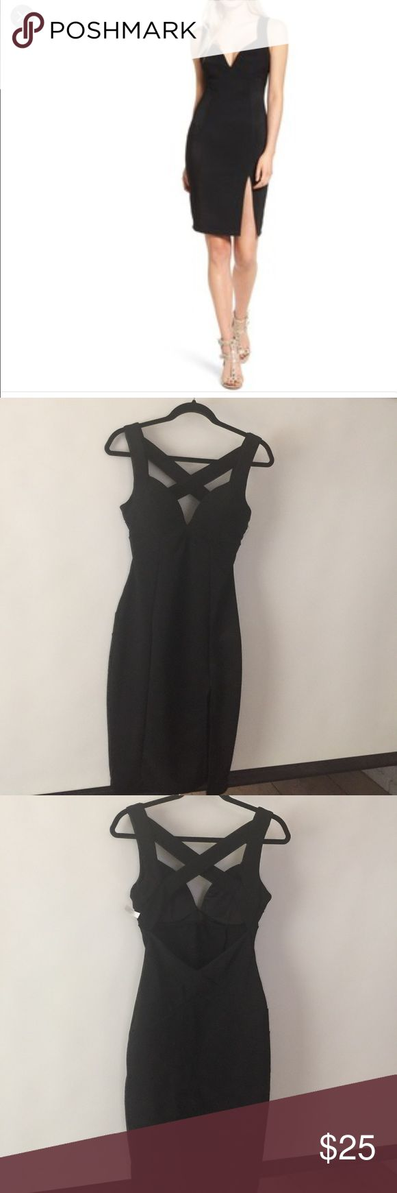 Love , Nickie, Lew. Bodycon black halter 👗 small. Show up those curves😉with this super sexy little black dress, is padded , form fitting, open back with a front slit .I haven't wear it , but I'll wash it before shipping, 'cause I noticed some deodorant marks, when I tried on, it's a pullover style. It's a gorgeous dress, but I have to downsize my black dress collection. Bought it at Nordstrom.Sorry NO TRADES OR MODELING. Please let me know if you have any questions. Thanks for looking…