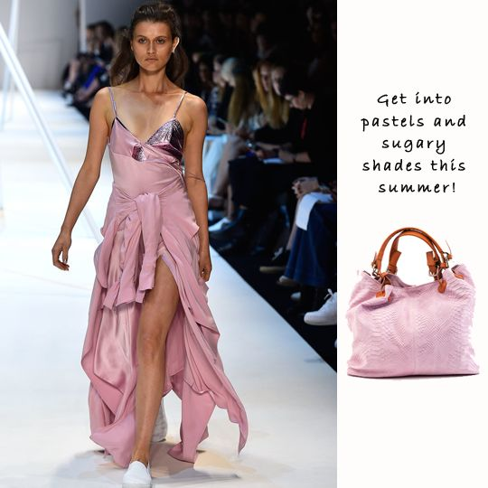 At Fashion Week this season, designers appeared to agree on a similar palette of sugary shades for spring summer 2014/15. If you're rocking pastels this spring/summer, check out this beautiful design. Stylish and in a lovely dusty pink, this shopper will be yours to love for years to come!