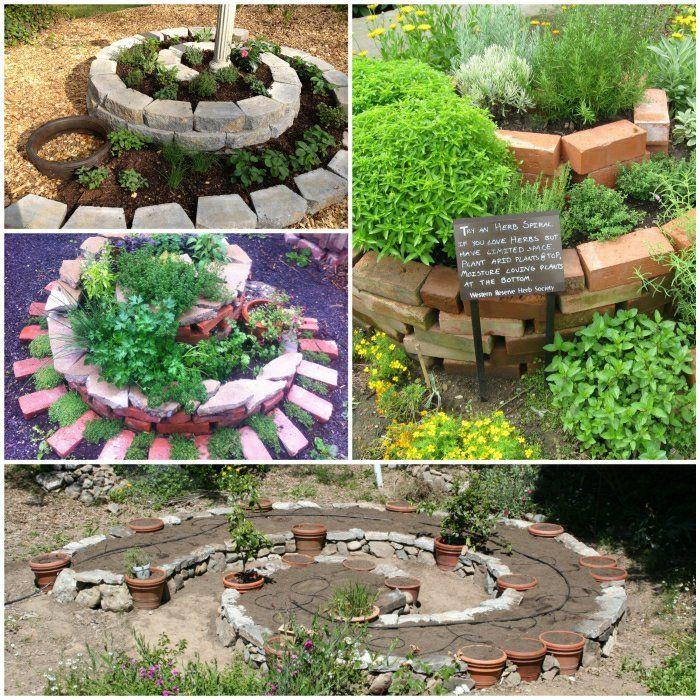 kräuterspirale selber bauen gartengestaltung gartenideen, Gartenarbeit ideen