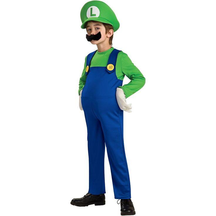 Nintendo Mario Brothers Luigi Costume - Boys, Size: Medium, Multicolor