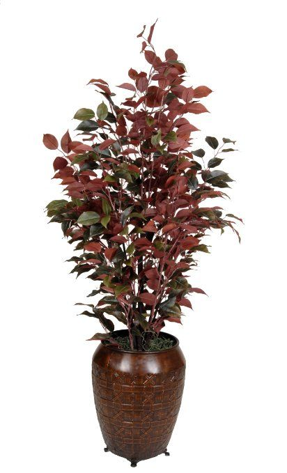 Amazon Com Artificial Ficus Tree In Decorative Vase