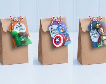 Avengers Lolly Bag Tags  Printable Loot Bag Tags / Edit &