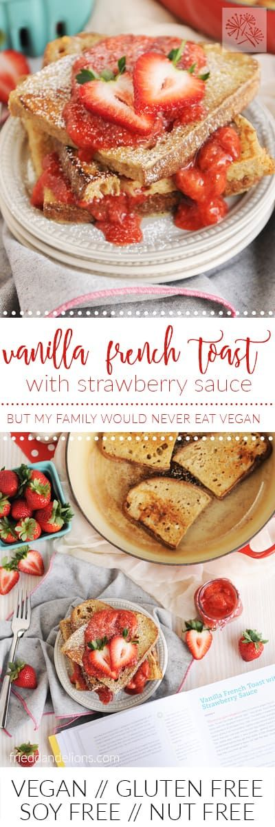 This Vanilla French Toast with Strawberry Sauce makes a simple, yet GORGEOUS breakfast for all of your holiday entertaining needs!