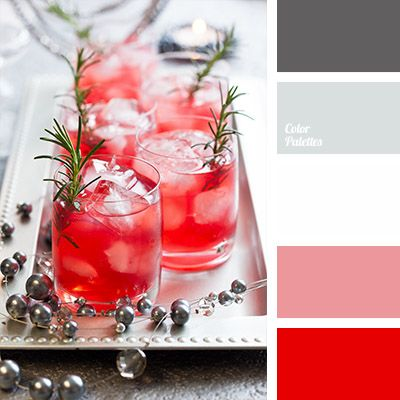 Bright red colour combined with shades of silver looks very original and fresh. Use these colours for a party decor..