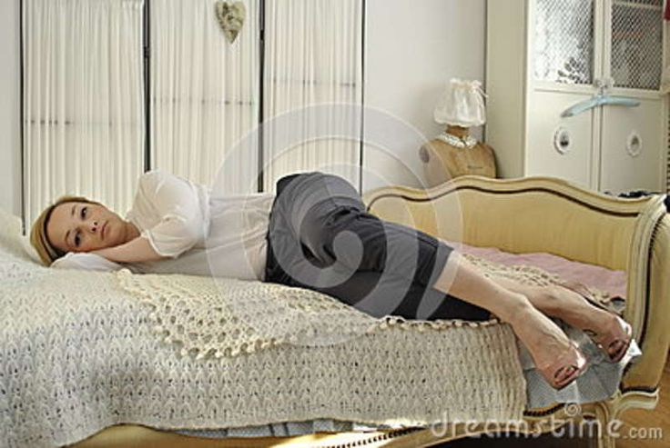 Young Female Model Lying On Bed - Download From Over 37 Million High Quality Stock Photos, Images, Vectors. Sign up for FREE today. Image: 60896616