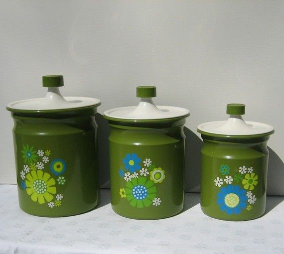Vintage Strawberry Canister Set Japan Retro Ceramic Set Kitchen Decor