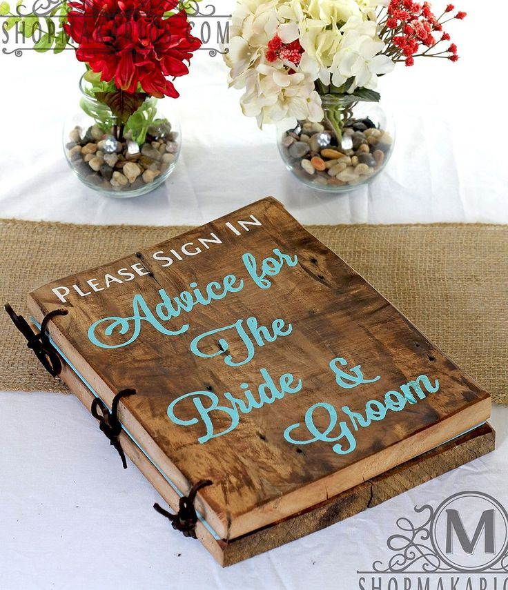 Wedding Advice Book - Wedding Guest & Sign in Books - Wedding Decor Shop Makarios Wedding Sign In Books are beautifully hand-crafted from 19th century barn wood. Our books will showcase a custom style to your special day.