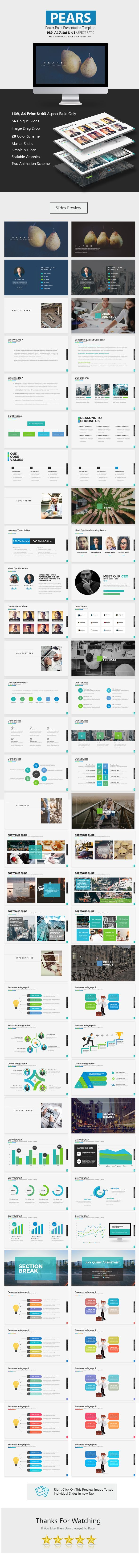 Pears Power Point Presentation - Business #PowerPoint Templates