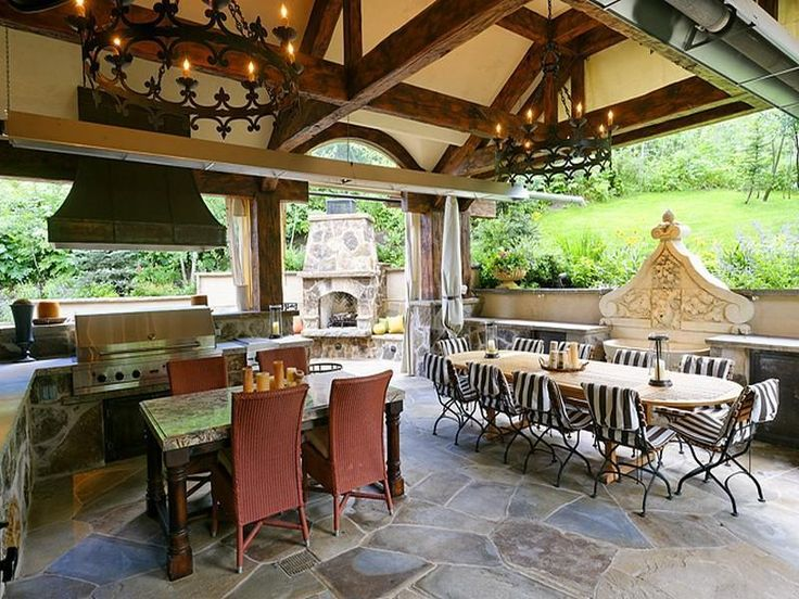 219 best images about outdoor kitchens on pinterest for Country outdoor kitchen ideas
