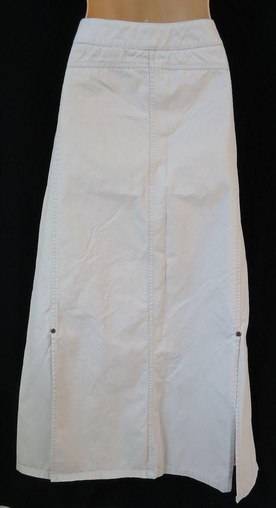 9a2dc10d6b Eddie Bauer Ladies 8 Skirt Long Khaki Tan Cotton #EddieBauer #Maxi ...