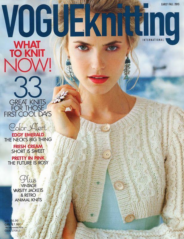 Vogue Knitting Early Fall 2013 - Monika Romanoff - Álbumes web de Picasa