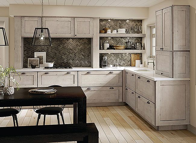 Maple Kitchen In Aged Concrete Kitchen Remodel Kitchen Cabinets Kitchen Kraftmaid Kitchen
