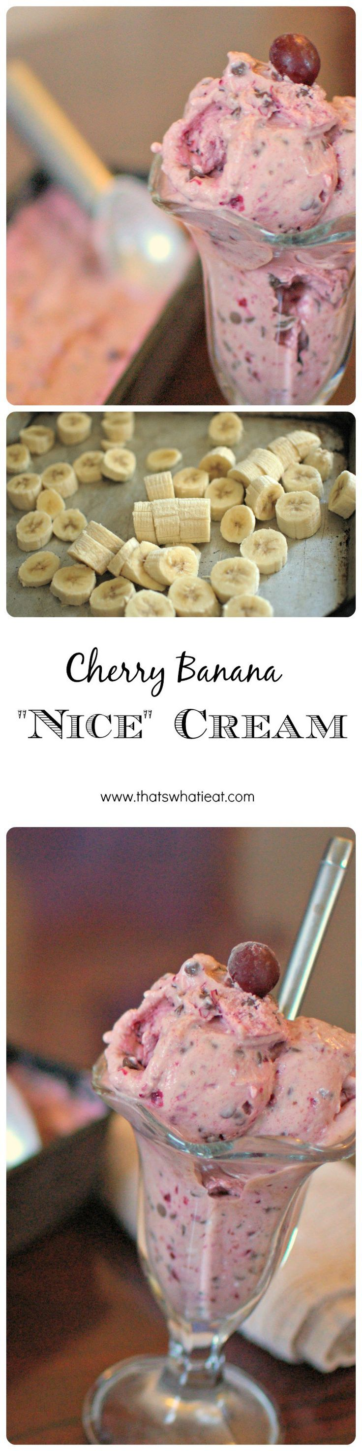 A delicious dessert that you don't have to feel guilty about? Yes, please!! Love this cherry banana nice cream recipe!