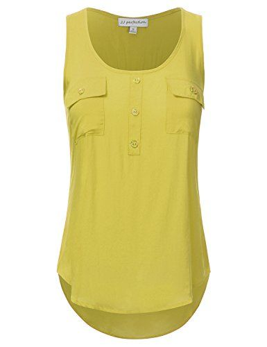 Special Offer: $15.99 amazon.com Crafted from thin, lightweight pure rayon, this solid woven scoop neck sleeveless tunic tank top features a front button henley detail and dual chest pockets.Hand Wash Cold / Do Not Bleach / Dry Flat / Iron LowA solid scoop neck tunic tank topFeatures a scoop...