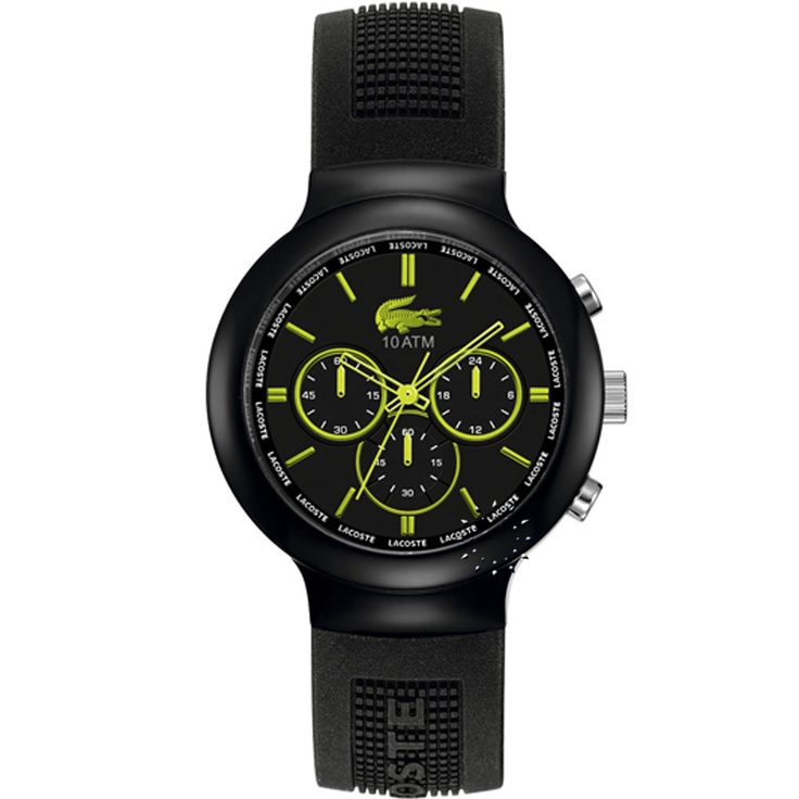 LACOSTE Chronograph Black Rubber Strap  143€  Αγοράστε το εδώ: http://www.oroloi.gr/product_info.php?products_id=28431