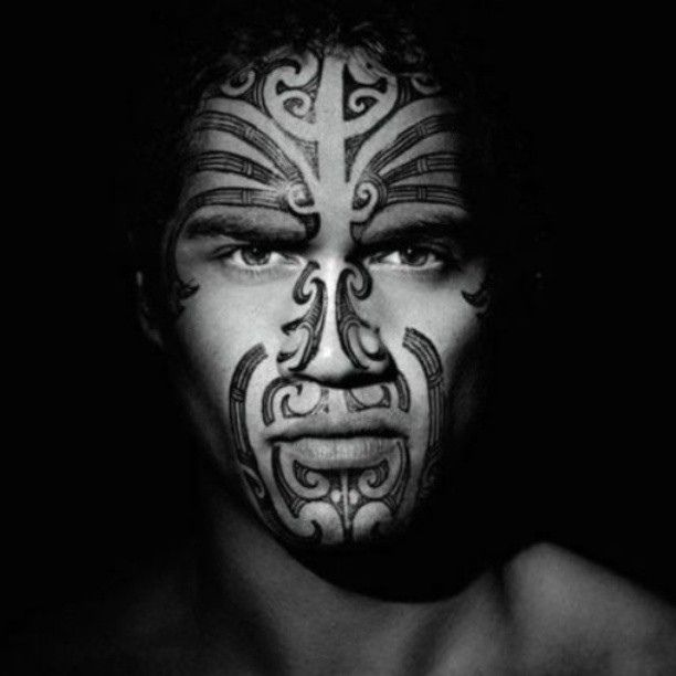 Maori warrior face, photography by georginatekurio #polynesian #tattoo                                                                                                                                                     More