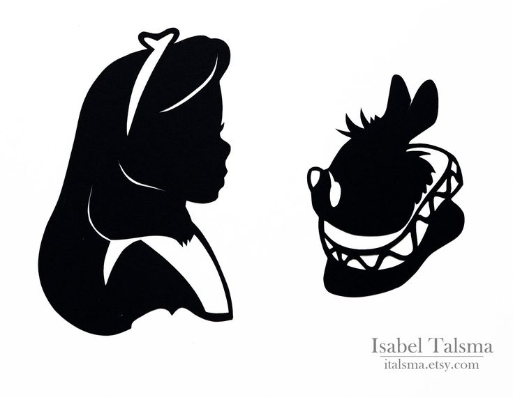 Alice in Wonderland (Alice and the White Rabbit) Handcut Disney Silhouettes