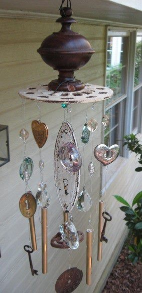 Garden windchime... just some ideas of what can be used in windchimes