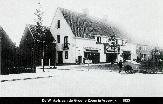 Winkels aan de Groenezoom, Vreewijk 1923