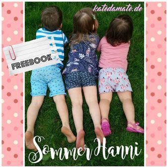 Freebook Sommer Hanni Shorts oder dreiviertel lang/ kurze Hosen 44 - 110 für Babys und Kinder nähen