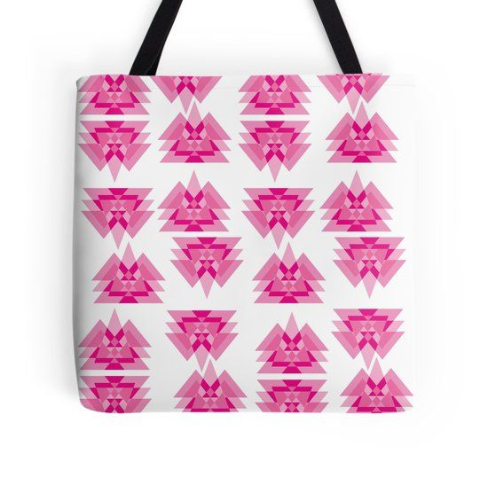 abstract pink triangle