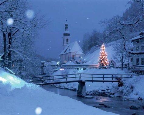 Weihnachtsszenen malen Schnee 22 Ideen