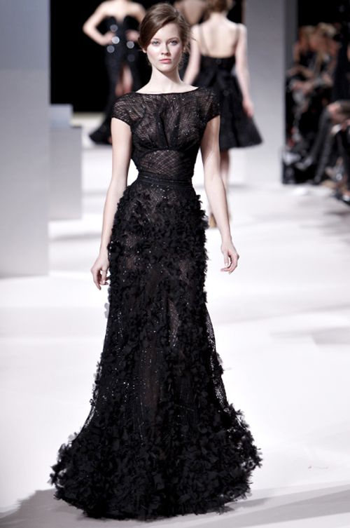 : Wedding Dressses, Eliesaab, Fashion, Ellie Will Be, Evening Gowns, Dresses, Elie Saab Spring, Black Gowns, Haute Couture