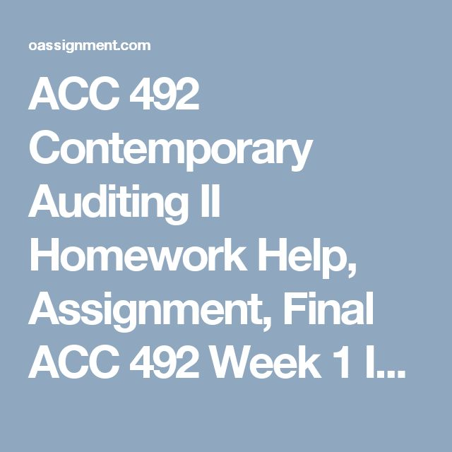 Best Acc  Contemporary Auditing Ii Images On