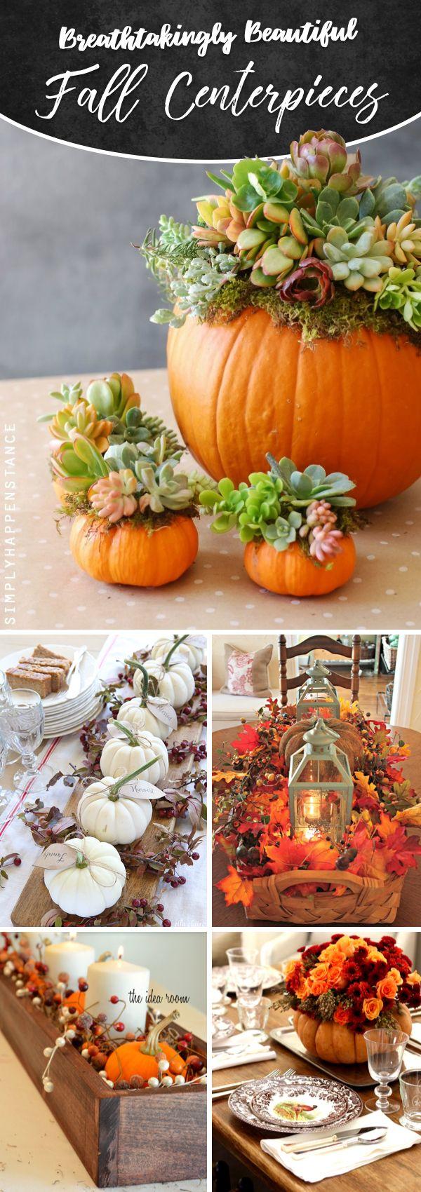 25 Atemberaubend schöne Herbst-Mittelstücke Schreien Sie den Herbst laut heraus!