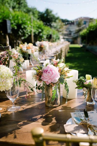 Peonies centerpiece and event planning on pinterest