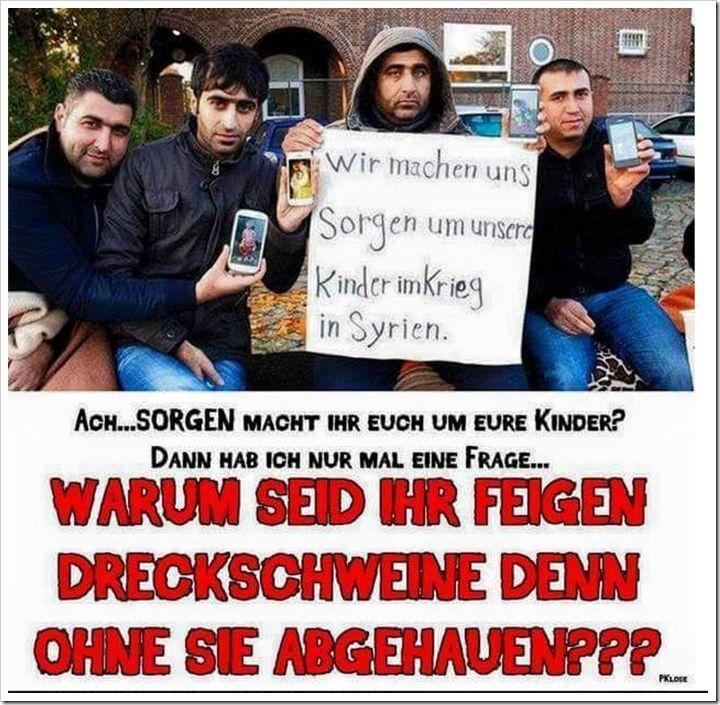 Fordern fordern fordern in Deutschland. Während Frau und Kind in Syrien sterben. Oder? Was denn? Und warum habt ihr alle ein neues Smartphone
