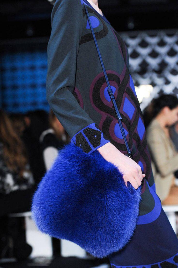 Best Bags Fall 2014 - The 50 Best Handbags from the Fall Runways - Elle   +DVF, bright, fur, bucket