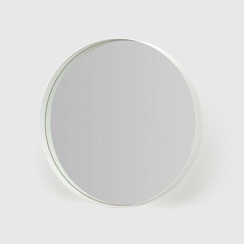 SPEGEL 9  Diam 80/60 x D 8 cm  White / Black