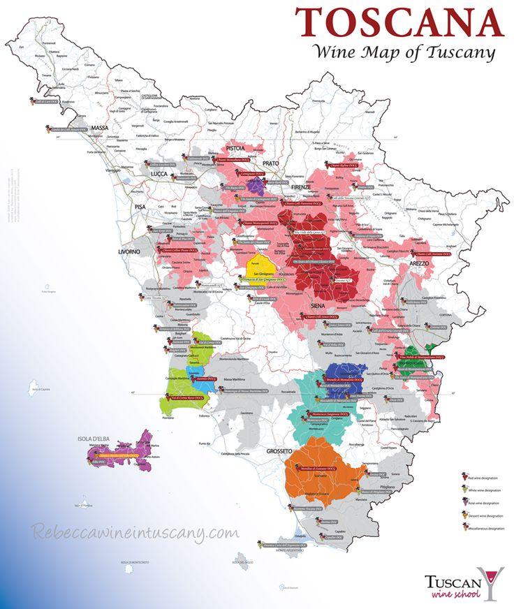 Rebecca Wine: 2015 - the new Tuscan Wine Map