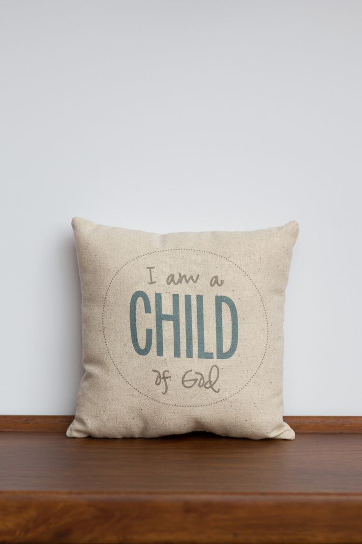 I am a Child of God Pillow | LDS Primary Baptism Gift | Christian Gift for Grandchild | Daughter of a King | Young Women Gift | LDS Child Song