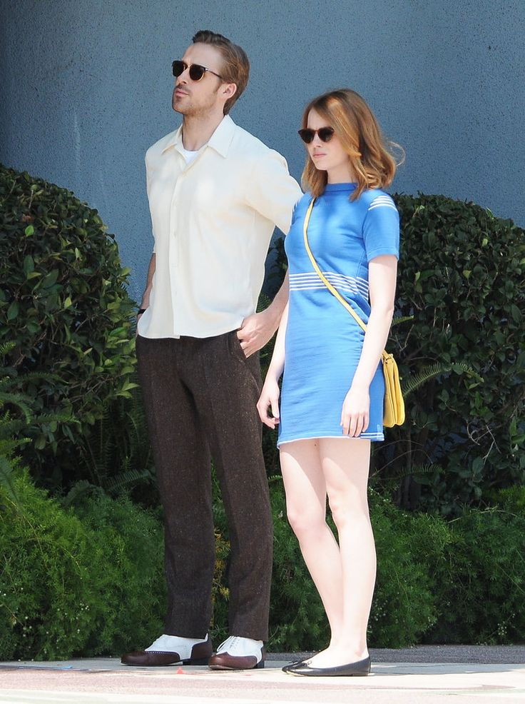 Emma Stone and Ryan Gosling on Set Pictures   POPSUGAR Celebrity