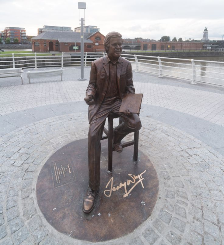A few weeks before my three day visit to Limerick a statue of Terry   Wogan was unveiled. However there was a serious problem because the   statue looked nothing like the late broadcaster. And the people of   Limerick are twice  unhappy because they also dislike the stone memorial   to Munster rugby player and coach Anthony Foley which was recently   unveiled on Clancy Strand across the river from Terry [I will publish   some photographs within  the next few days]