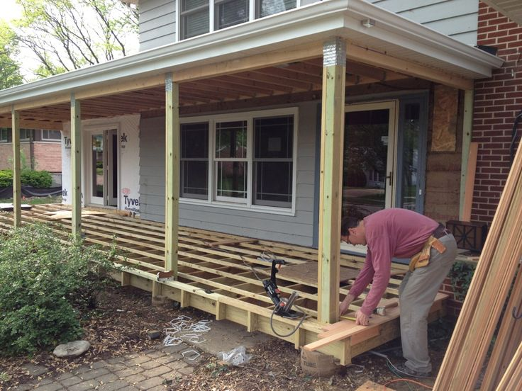 Decking Over Concrete Steps | Tyres2c |Wood Stoop Construction Ideas