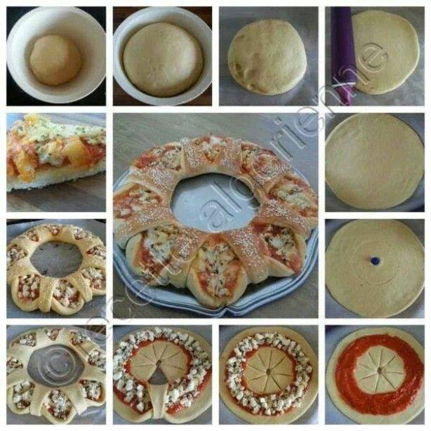 Wat een leuk, feestelijk idee voor een pizza-feestje!